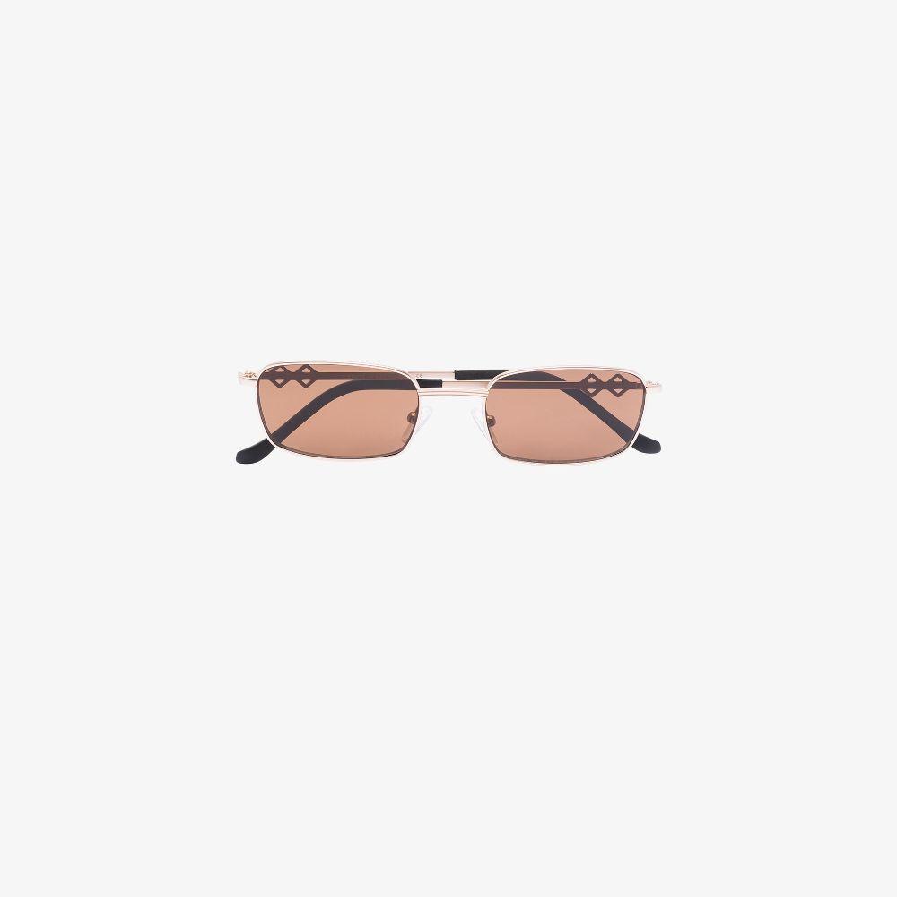 Brown Ellis Rectangular Sunglasses