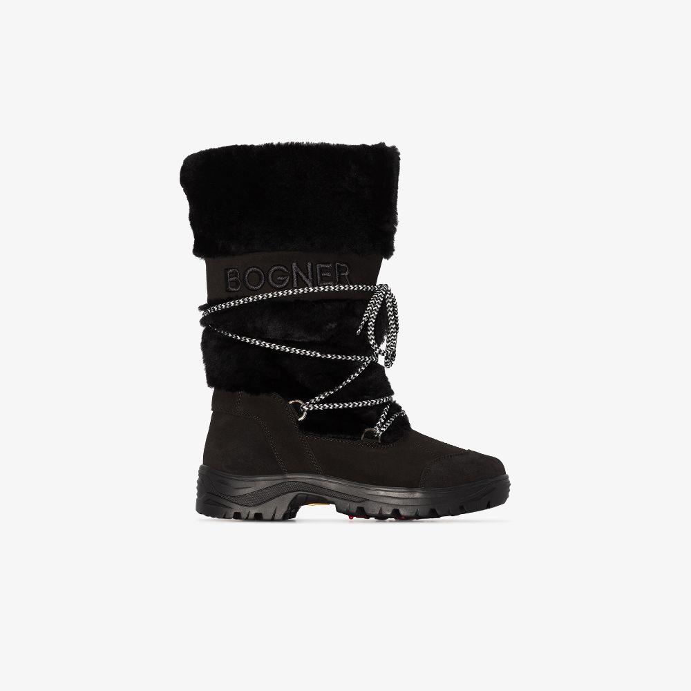 Black Alta Badia Snow Boots