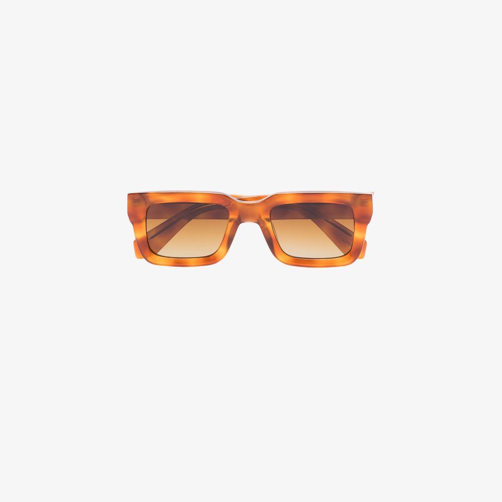 Brown Rectangular Tortoiseshell Sunglasses