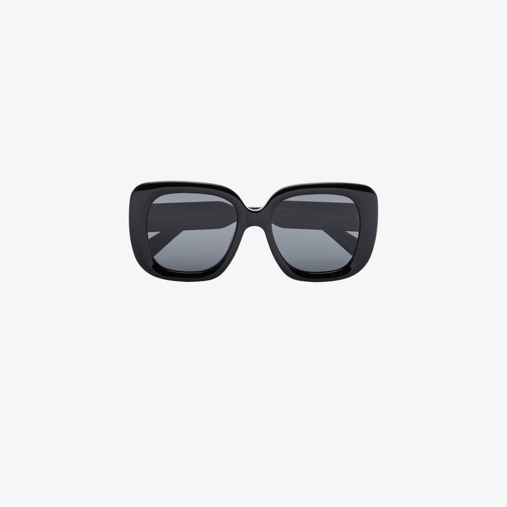 Black 10 Oversized Square Frame Sunglasses
