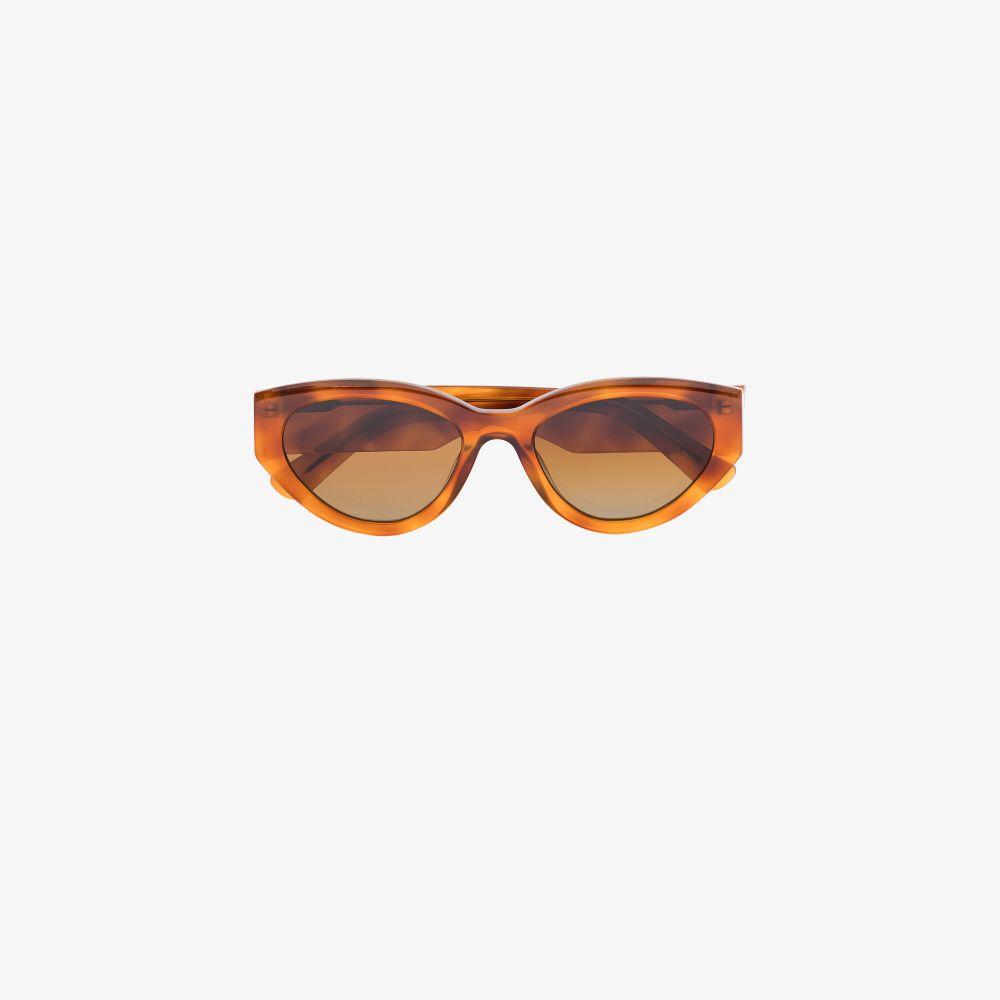 Brown Oval Tortoiseshell Sunglasses
