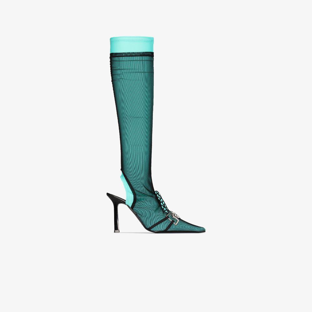 Green 95 Knee-High Sock Boots