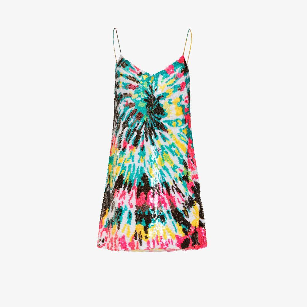 Tie-Dye Sequinned Mini Dress