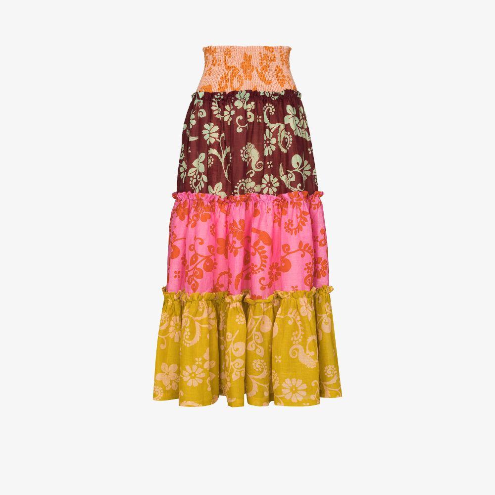 Luis Patchwork Maxi Skirt