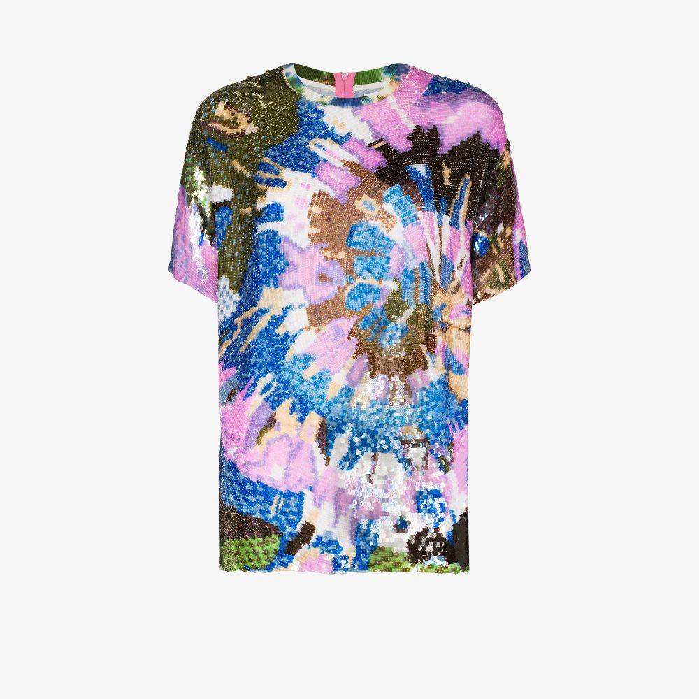 Tie-Dye Sequinned T-Shirt