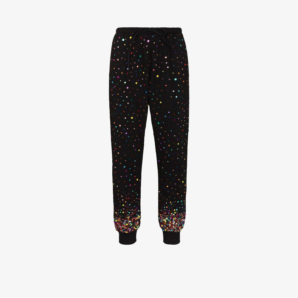 Sequin Embellished Track Pants