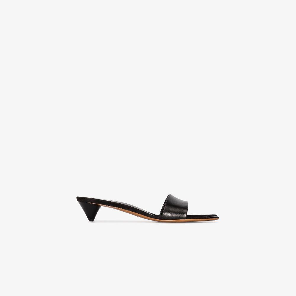 Black Cala 35 Leather Sandals