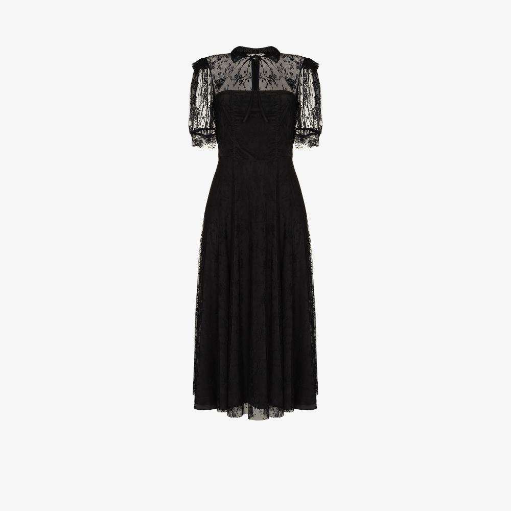 Panelled Lace Midi Dress