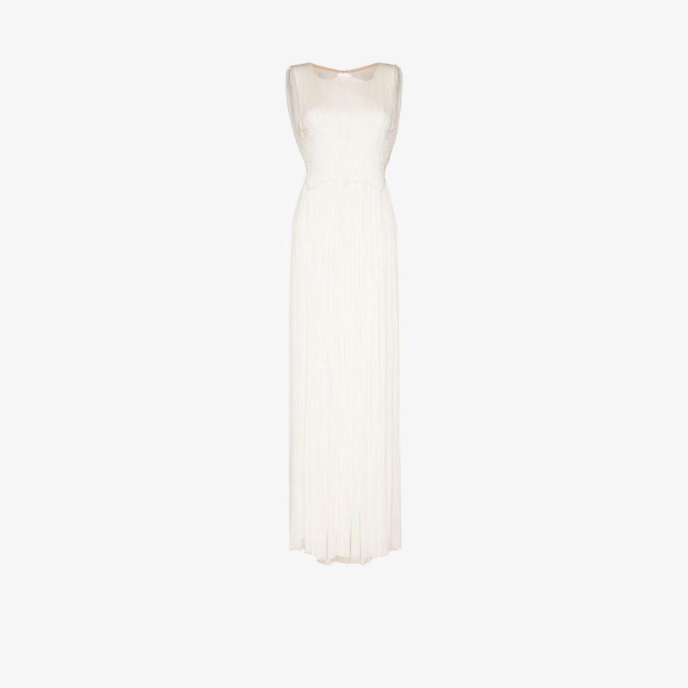 Lynda Draped Back Silk Gown