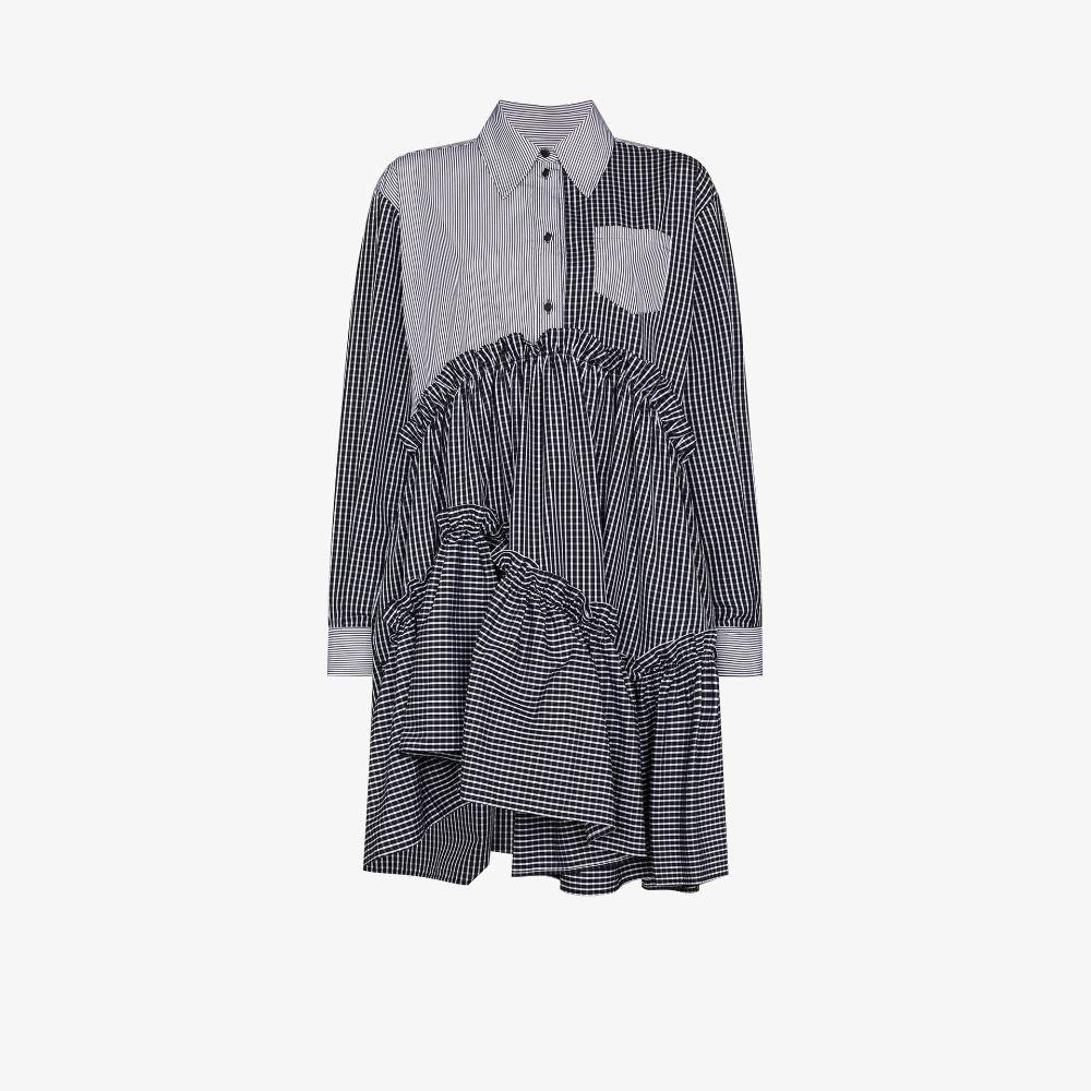 Hanne Asymmetric Ruffled Shirt Dress