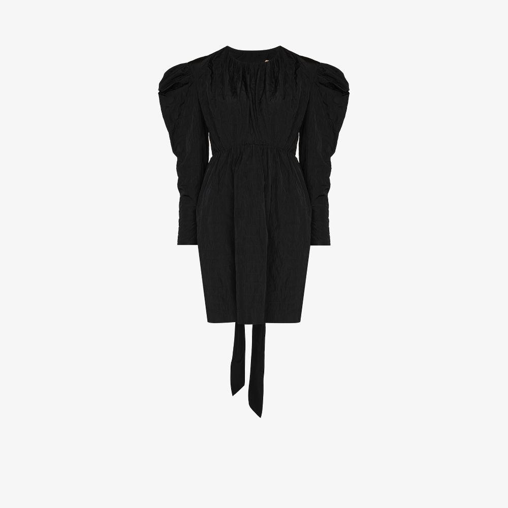 Lykke Crinkled Puff Sleeve Mini Dress