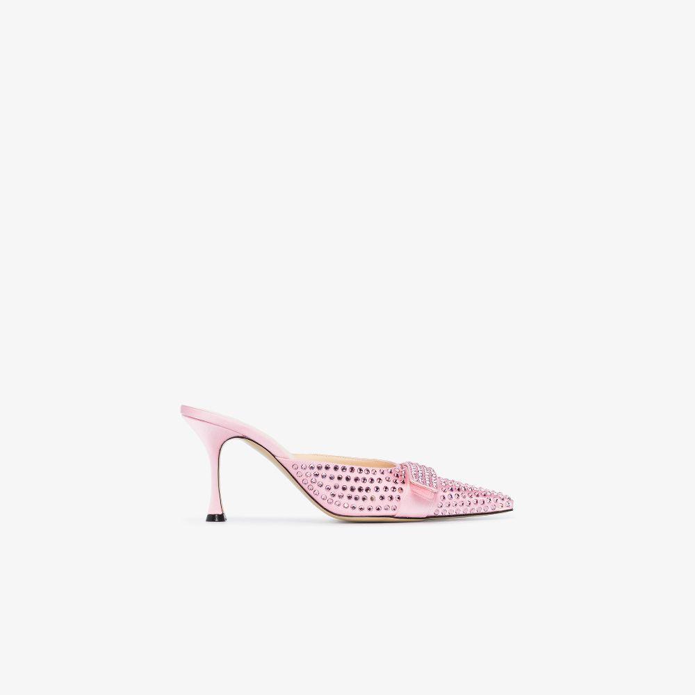 Pink Bella 85 Crystal Mules