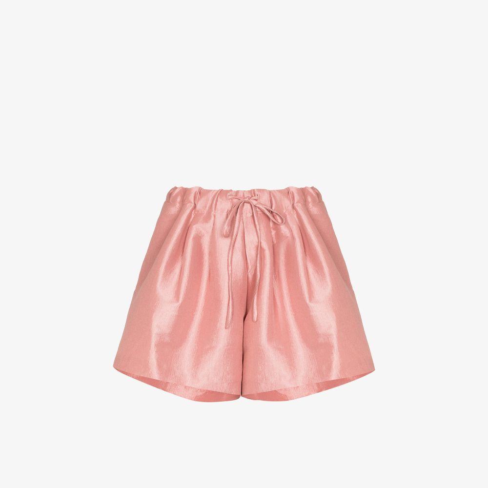 Drawstring Waist Silk Shorts