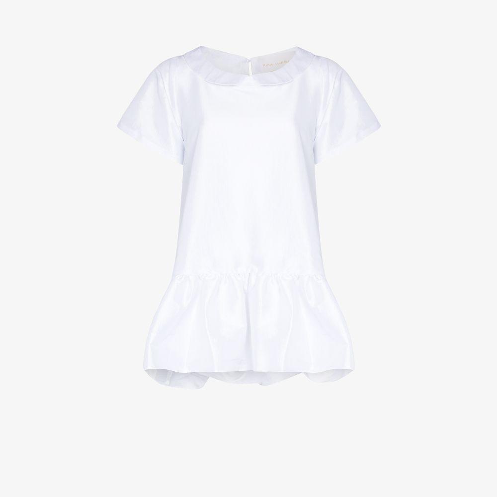 Luz Peplum Silk Mini Dress