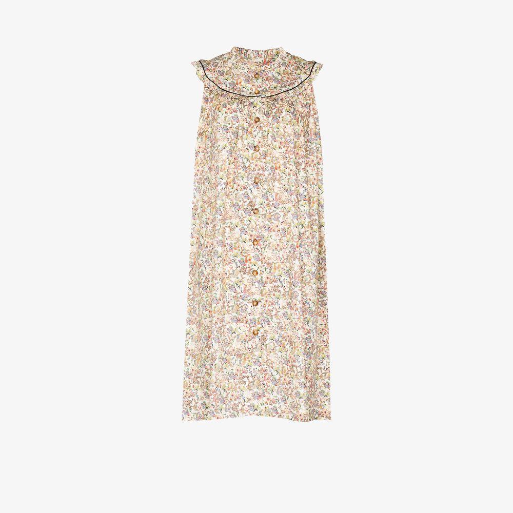 Rose Printed Midi Dress