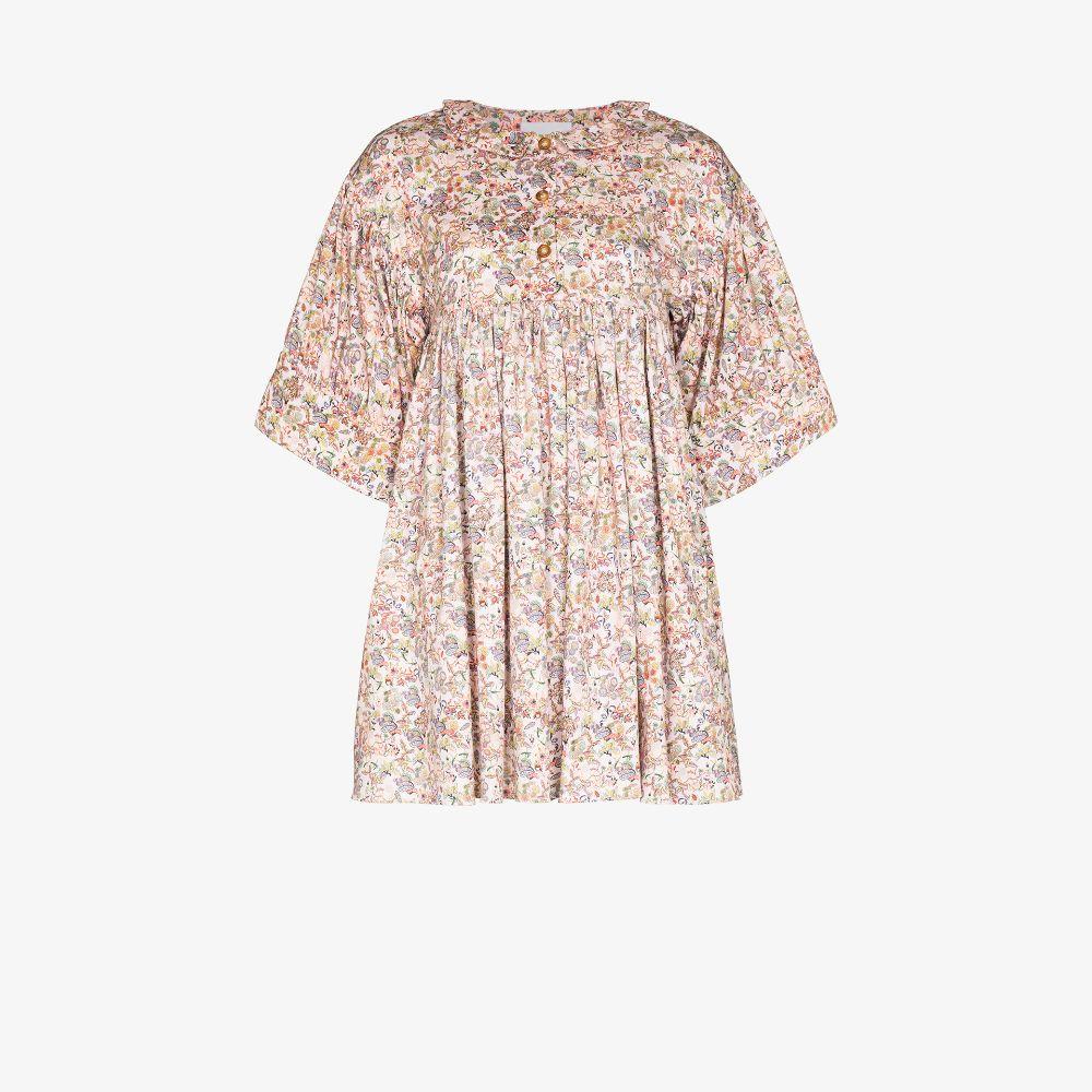 Maty Printed Cotton Mini Dress