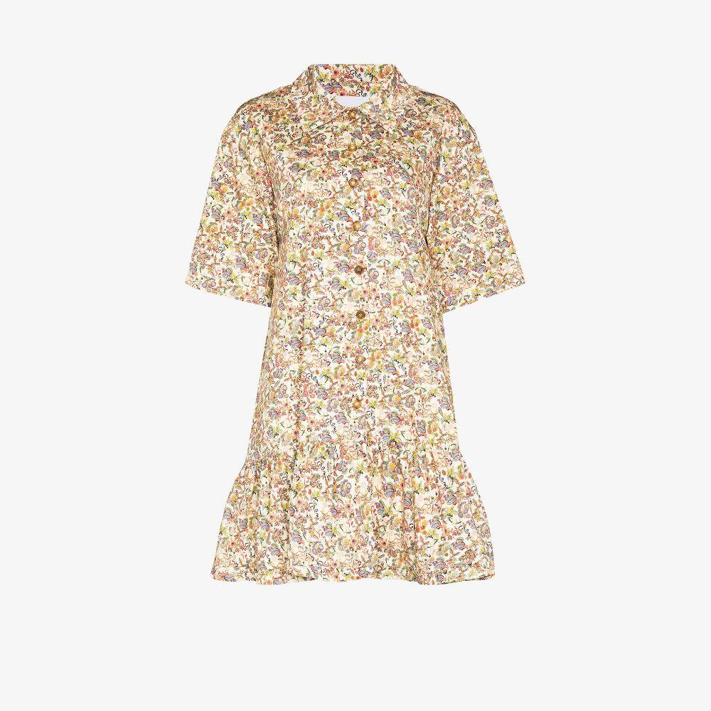 Gerty Floral Print Mini Dress