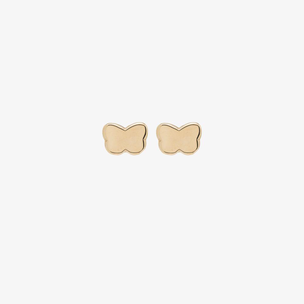 Gold Tone Noemi Butterfly Stud Earrings