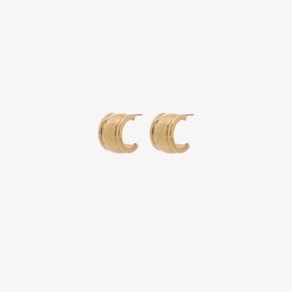 Gold Tone Strada Hoop Earrings
