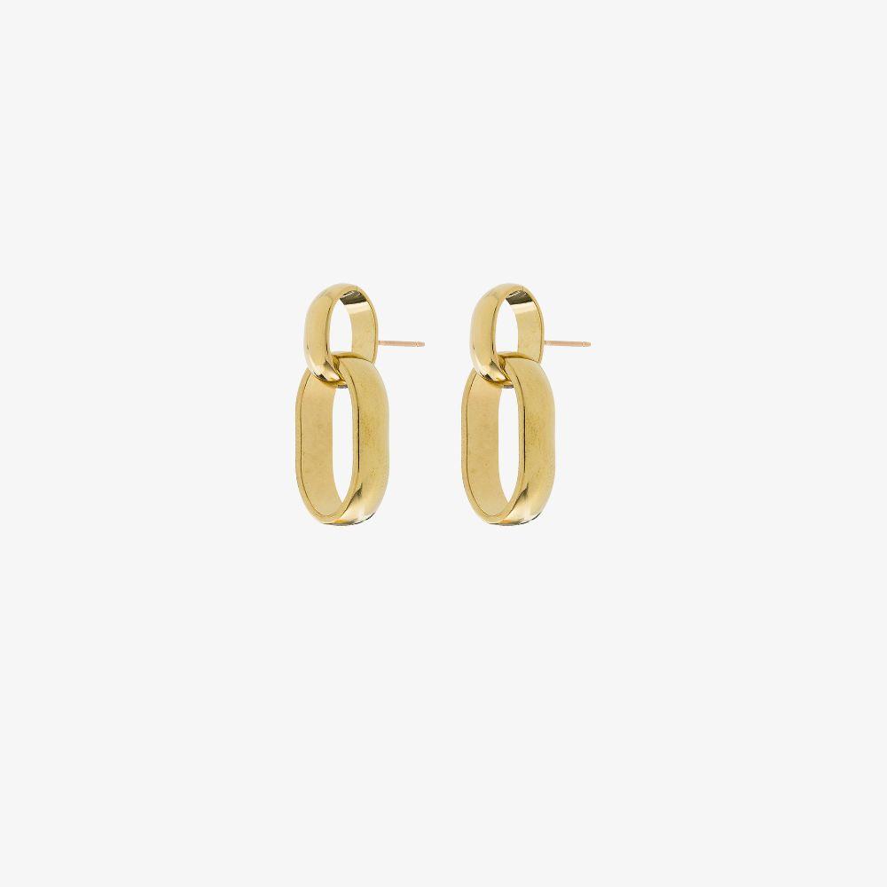 Gold Tone Elena Chain Link Earrings