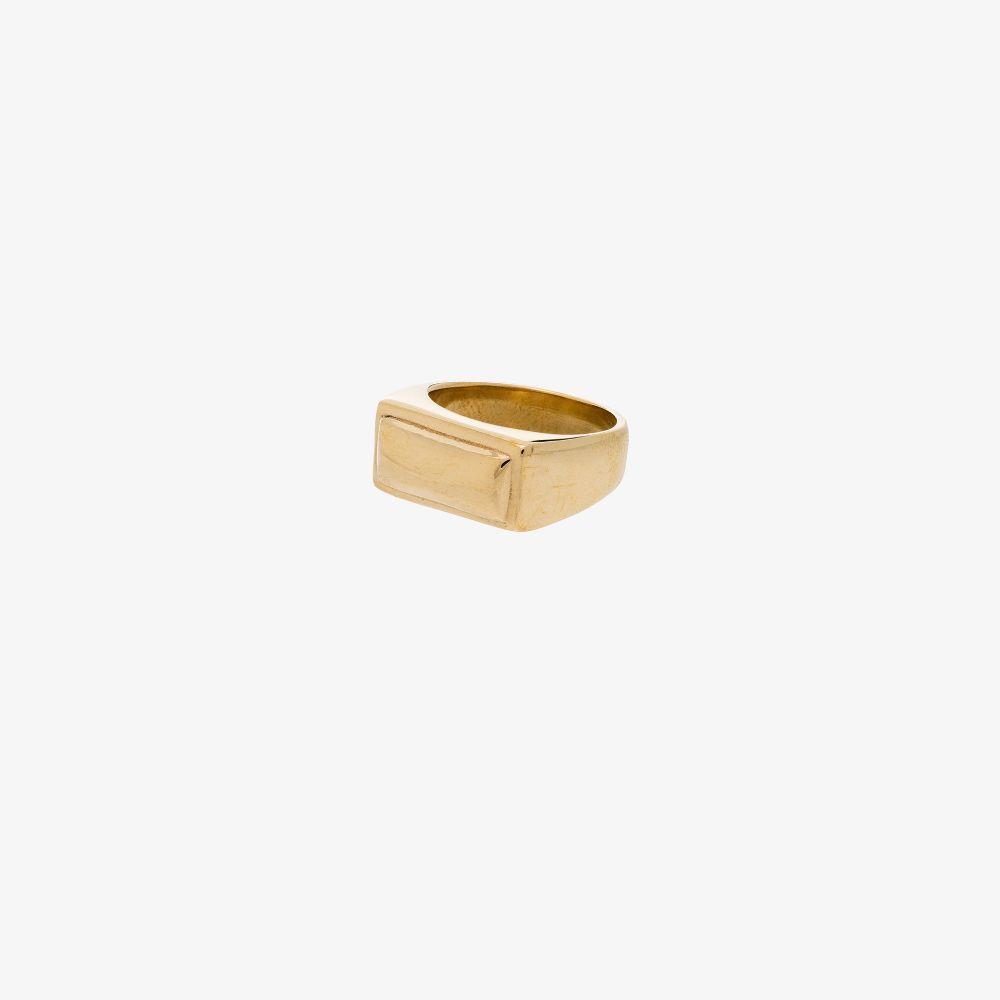 Gold Tone Nonno Signet Ring