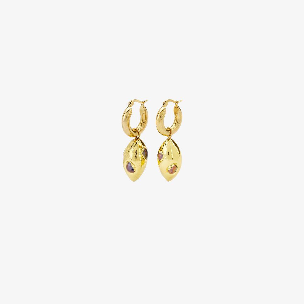 Gold-Plated Orion Hoop Drop Earrings