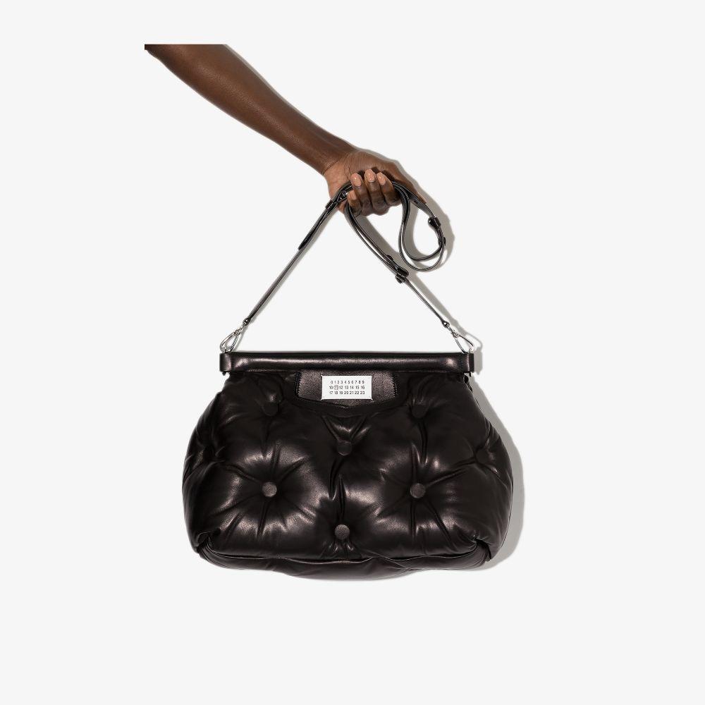 Maison Margiela Black Glam Slam Medium Leather Tote Bag