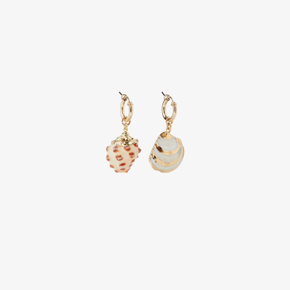 Gold-Plated Laguna Shell Earrings