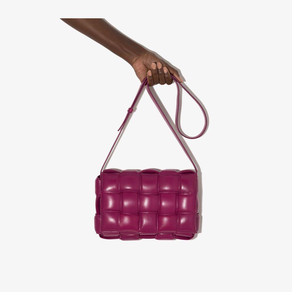 Bottega Veneta Pink Padded Cassette Leather Shoulder Bag