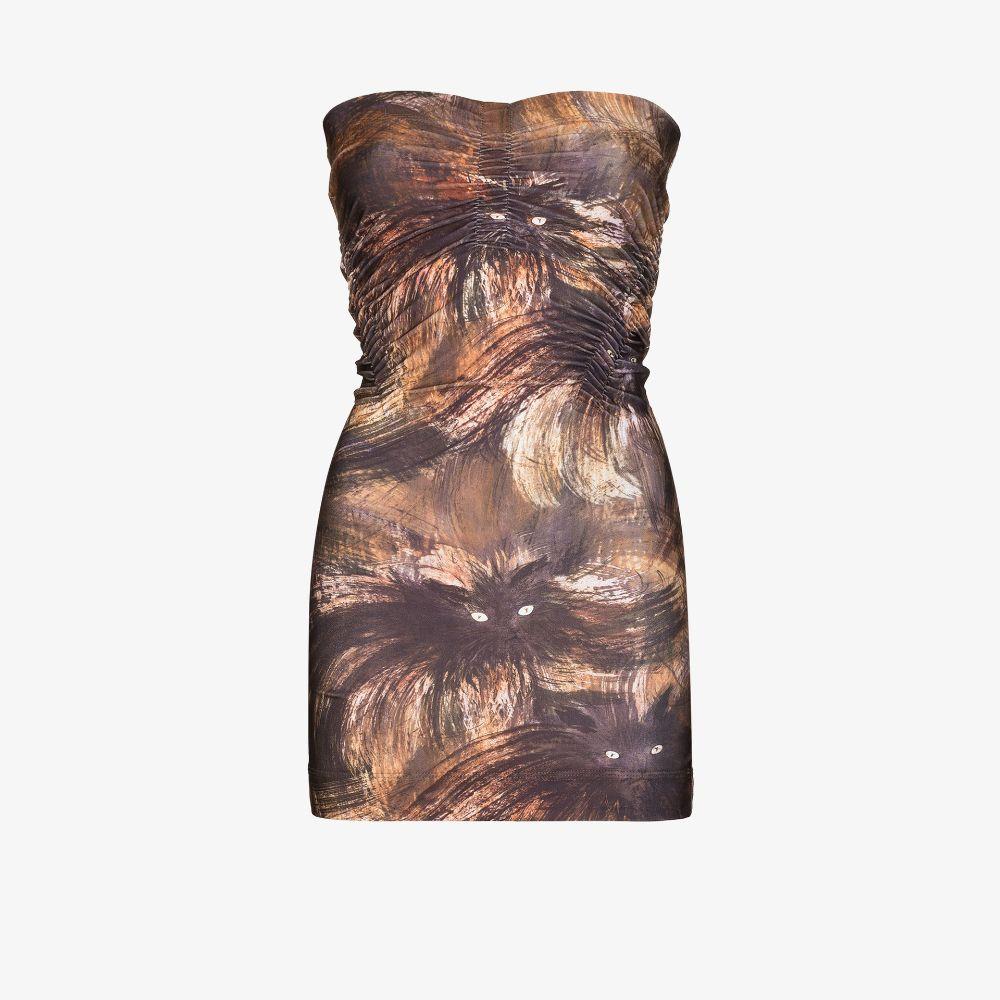 Skinn Cat Print Mini Dress