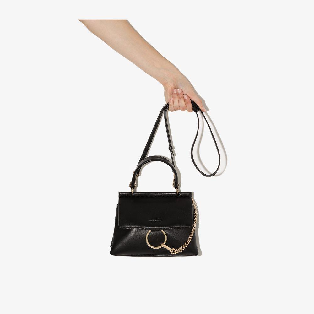 Chloé Black Faye Small Leather Shoulder Bag