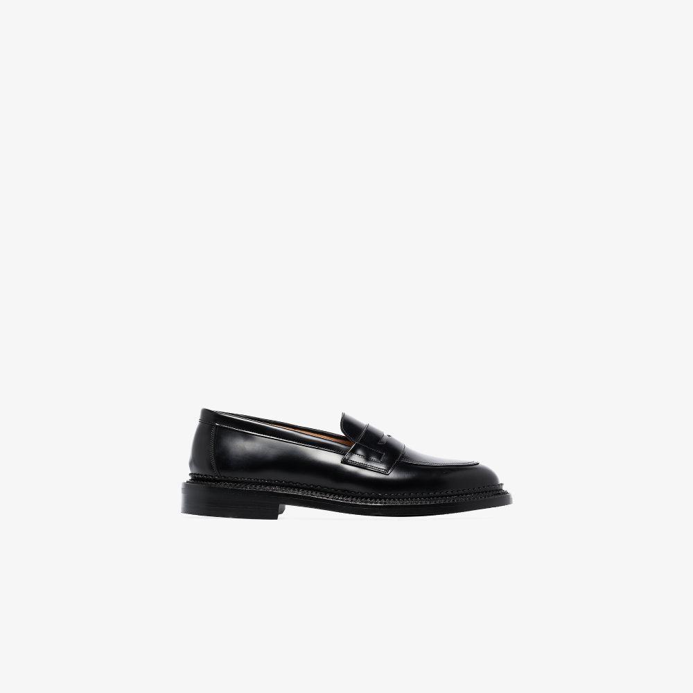 Black Bartlett Leather Loafers