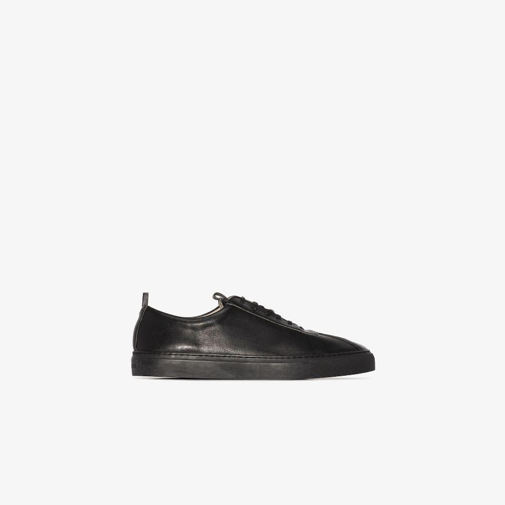 Black Sneaker 1 Vegan Leather Sneakers