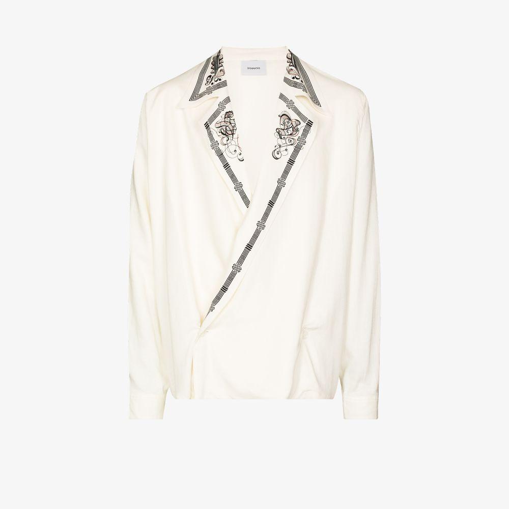Printed Collar Shirt Jacket