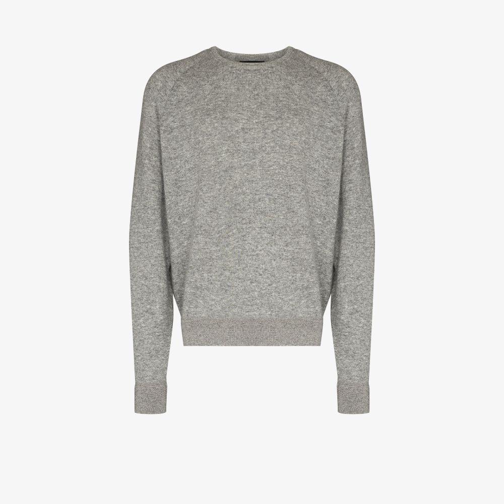 Ermenegildo Zegna Grey Crew Neck Sweatshirt
