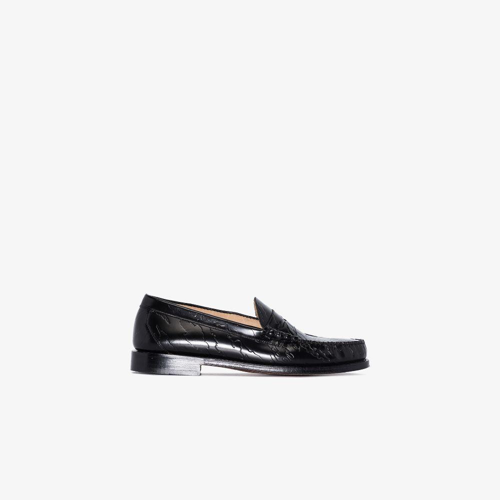 X Maharishi Black Weejuns Larson Leather Loafers