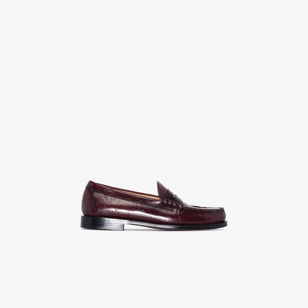 X Maharishi Brown Weejuns Larson Leather Loafers
