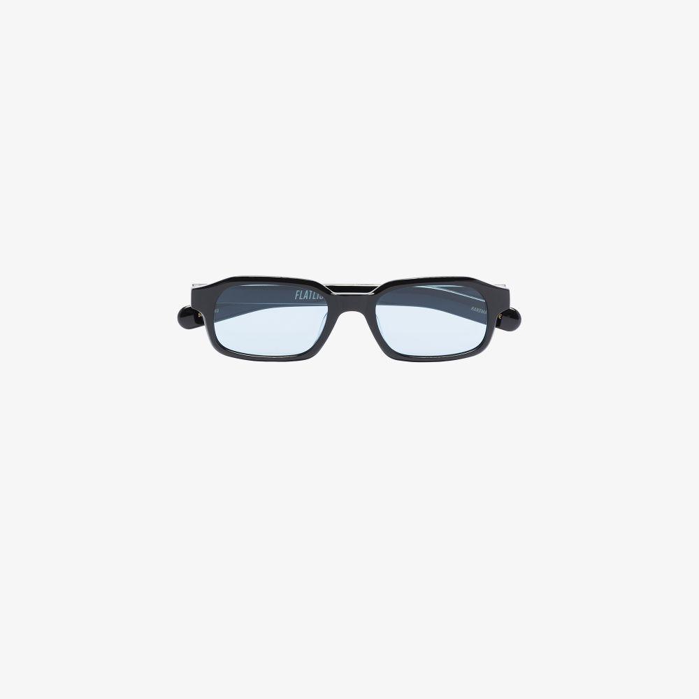 Black Hanky Rectangle Sunglasses