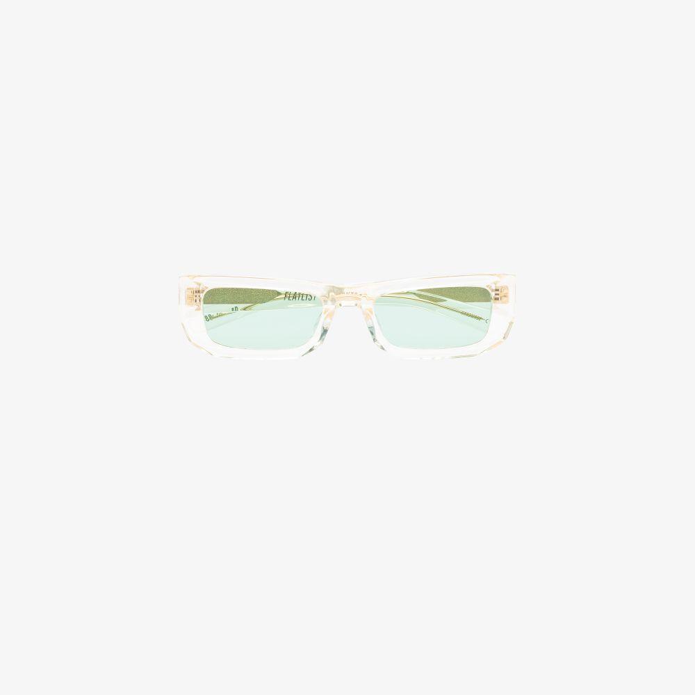 Yellow Bricktop Rectangular Sunglasses