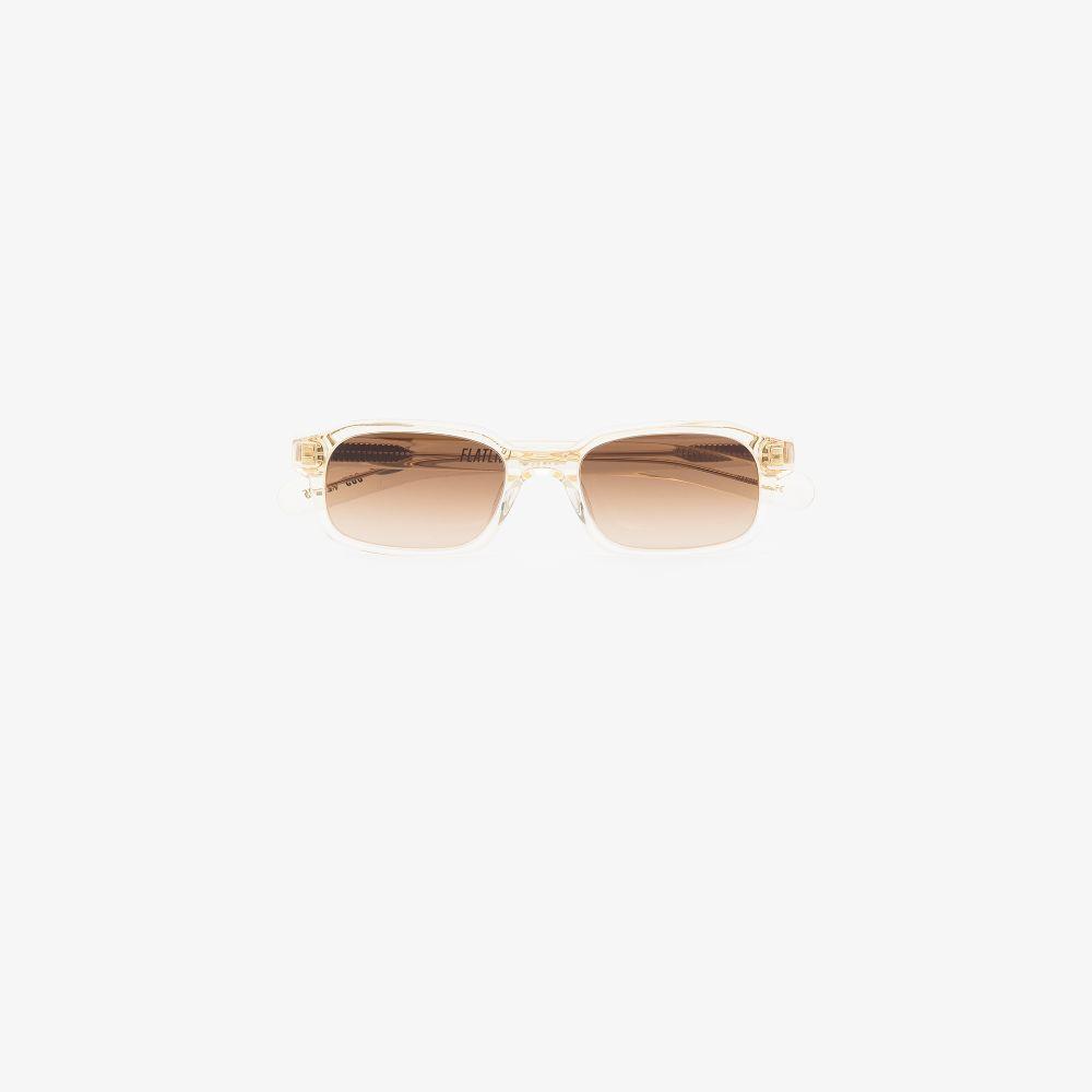 Neutral Hanky Rectangle Sunglasses