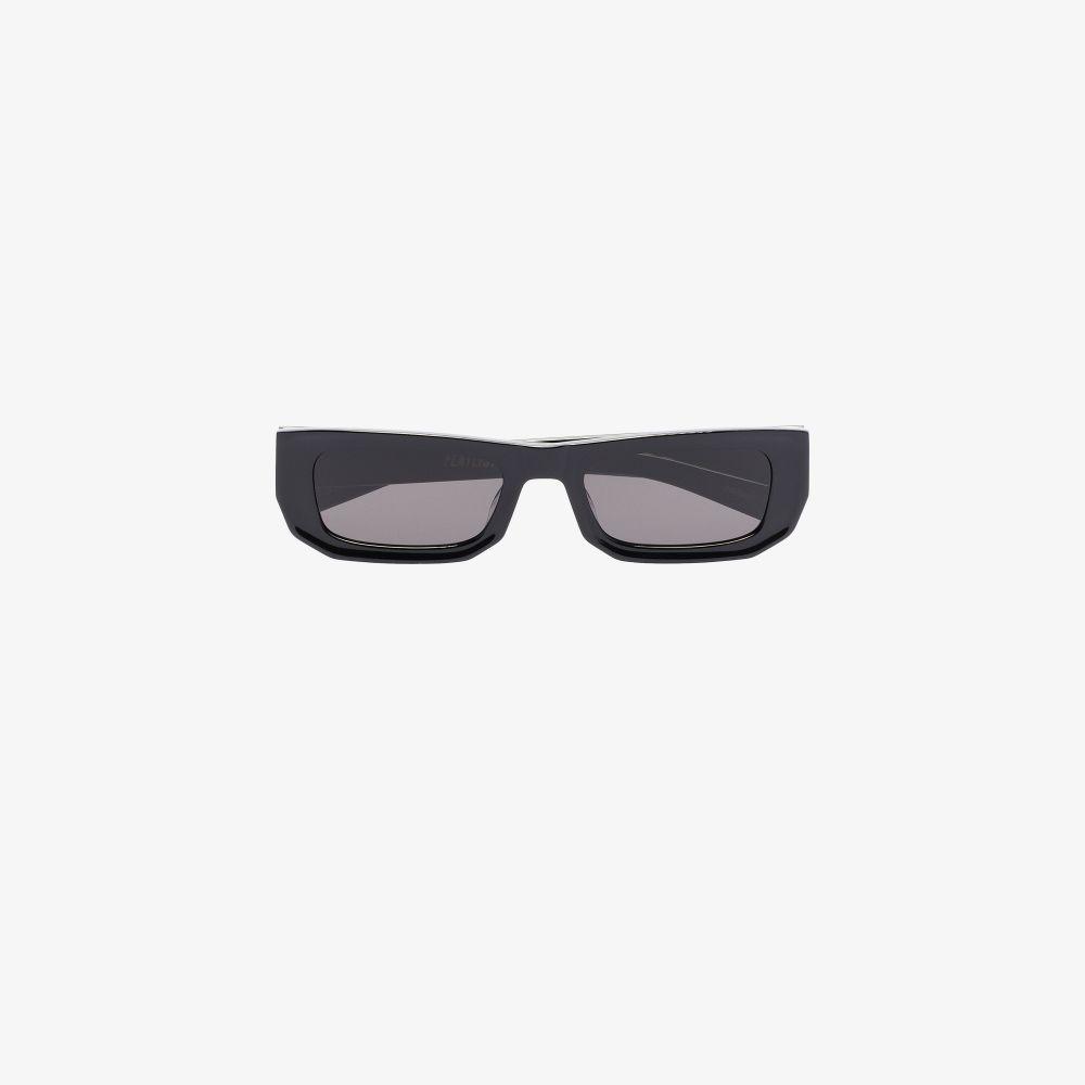 Black Bricktop Rectangle Sunglasses
