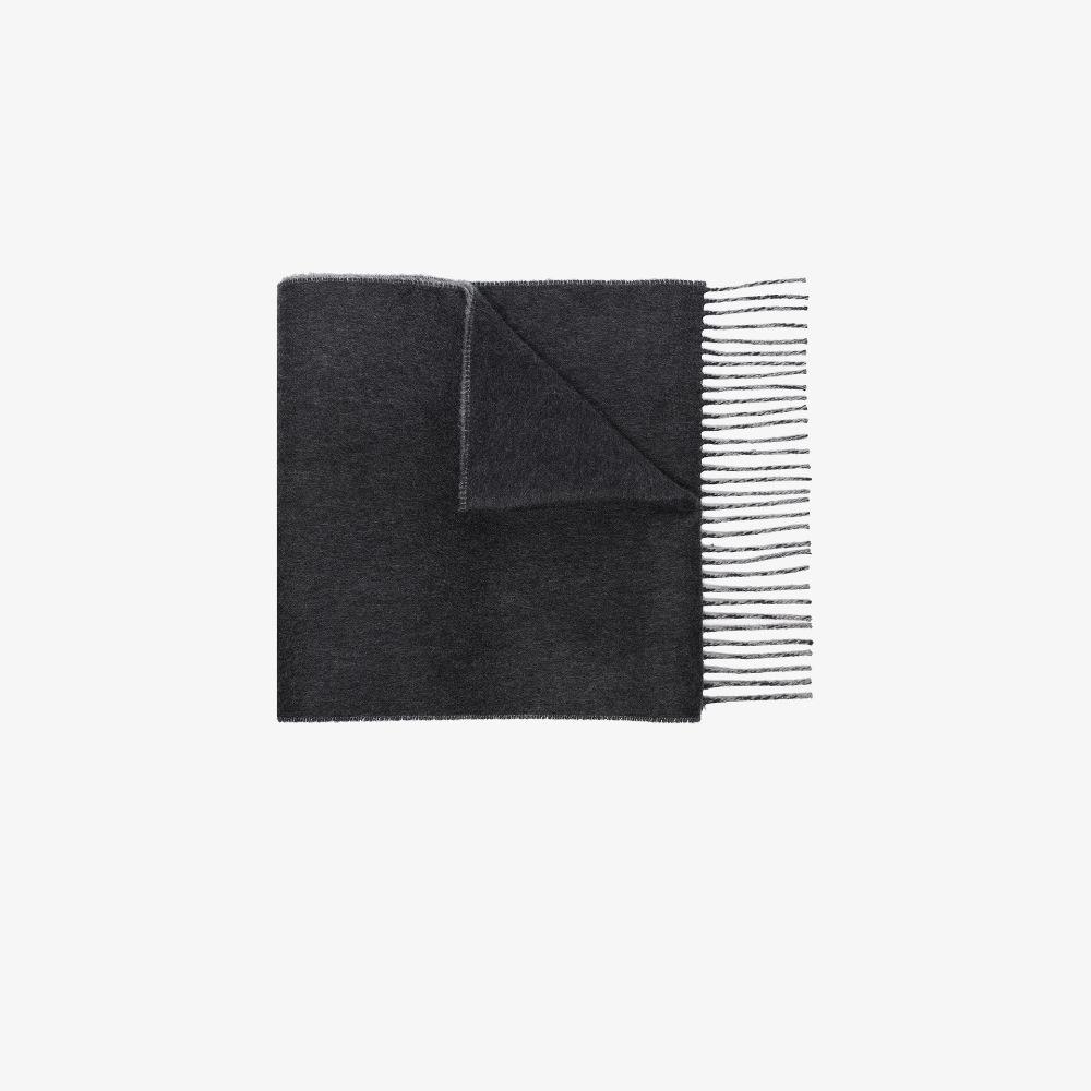 Grey Fringed Cashmere Scarf