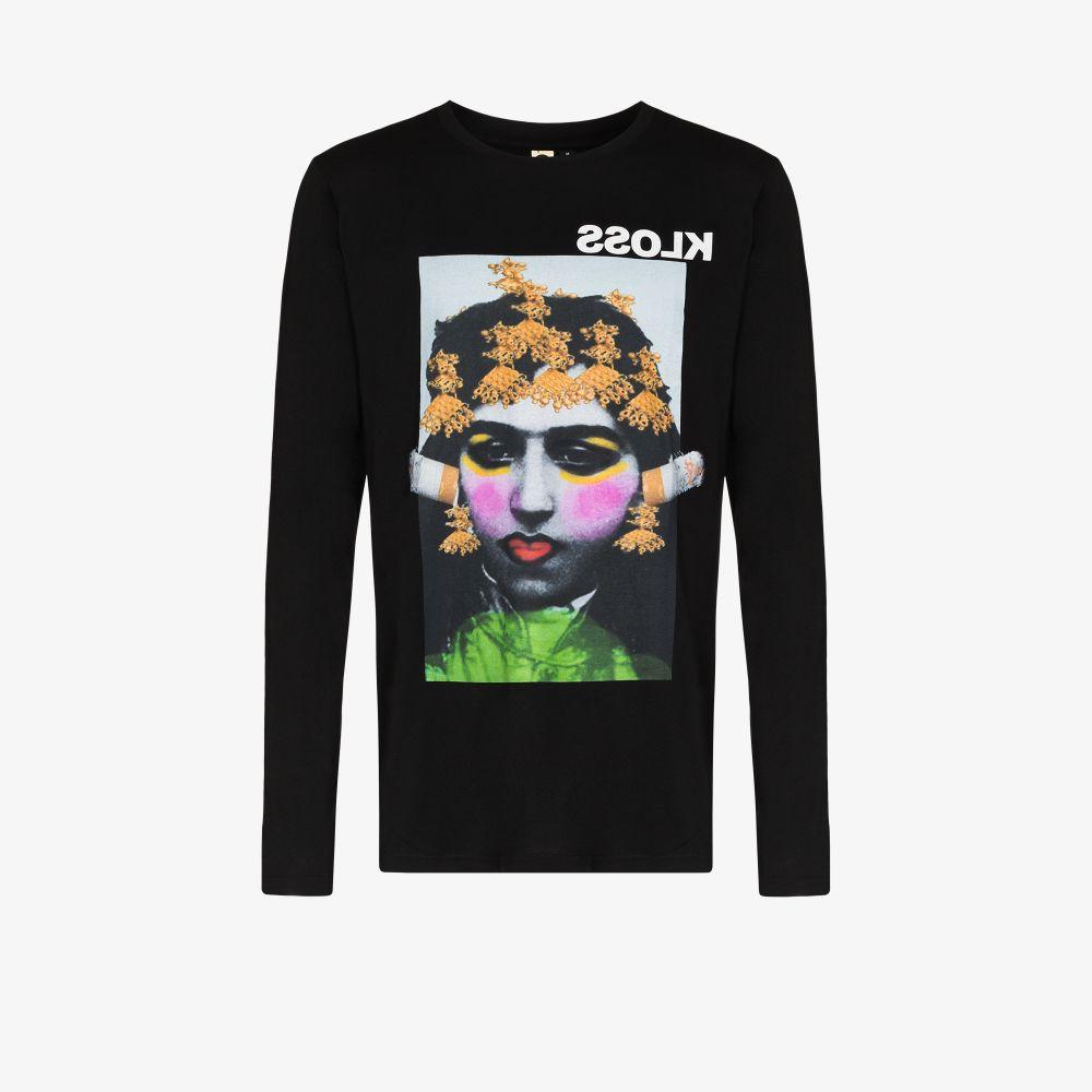 Niki M'nray Print Cotton T-Shirt