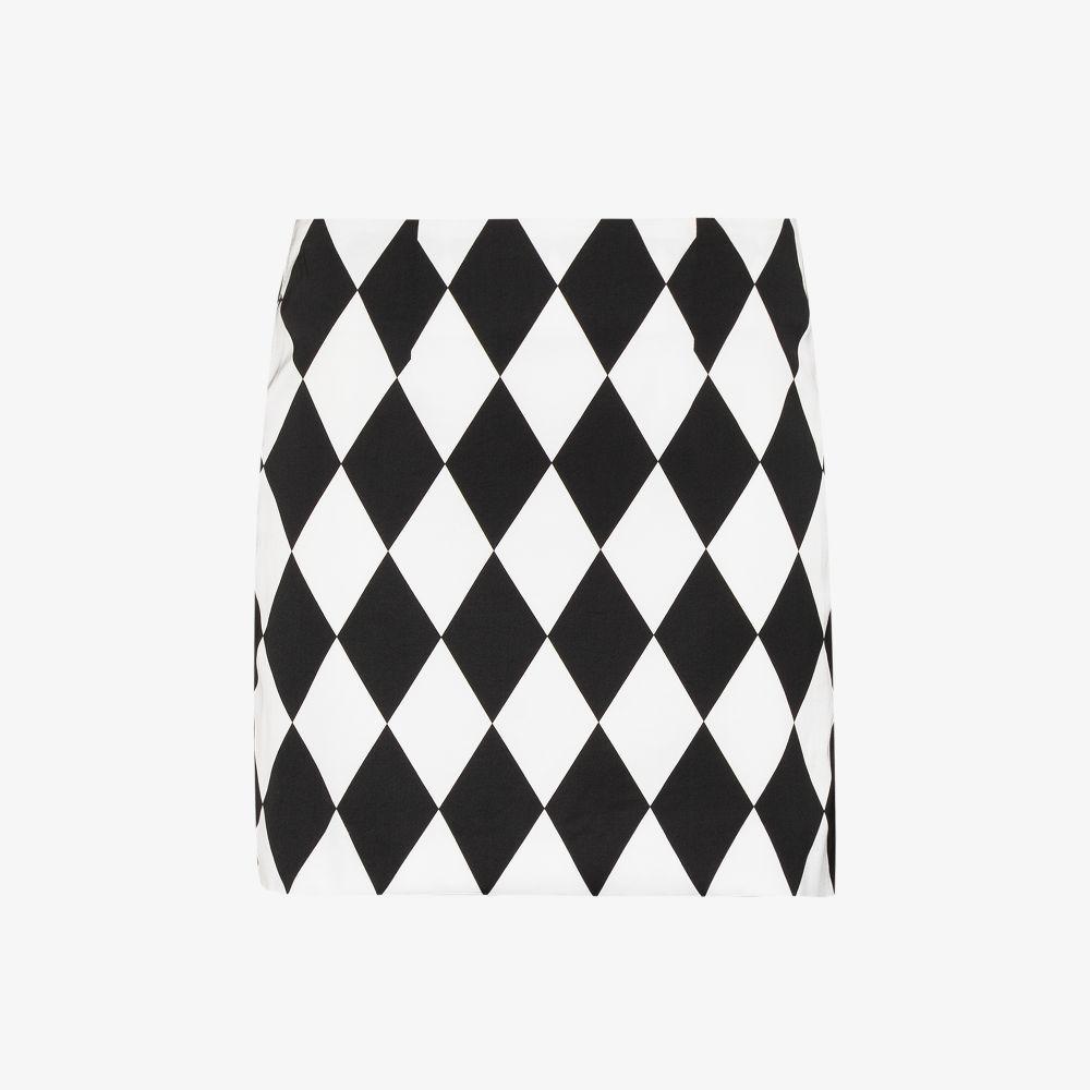 X Karl Lagerfeld Diamond Print Mini Skirt