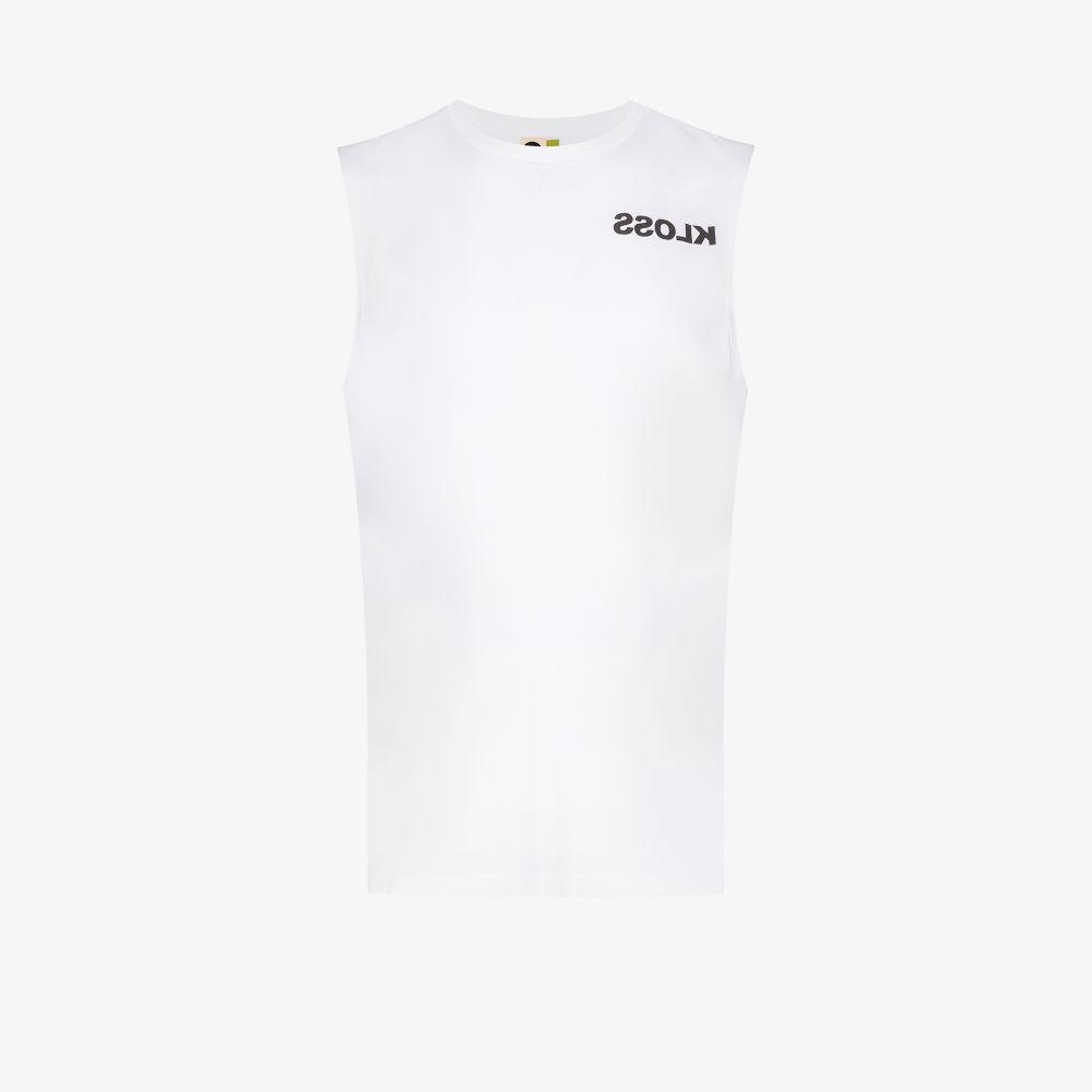 Logo Print Cotton Vest Top