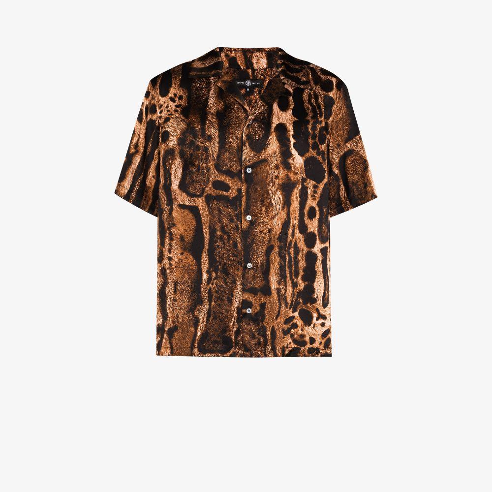 Ocelot Animal Print Silk Shirt