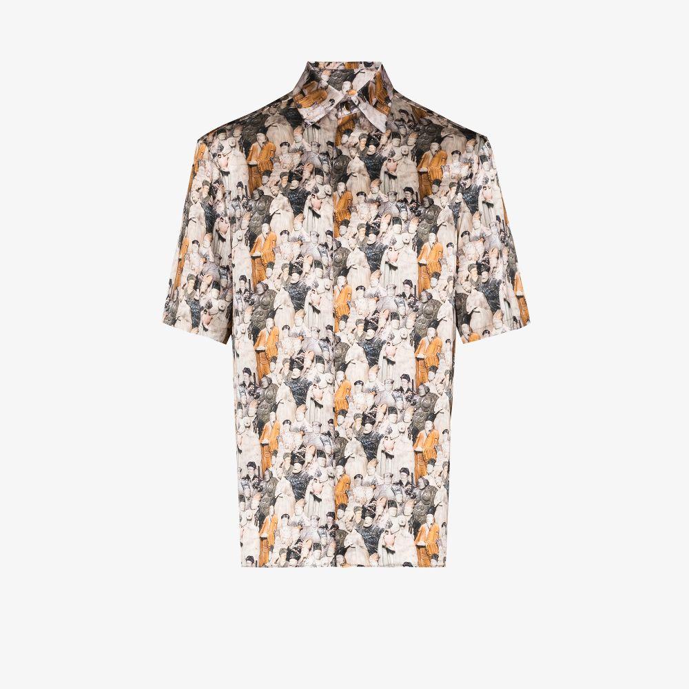 Printed Short Sleeve Silk Shirt