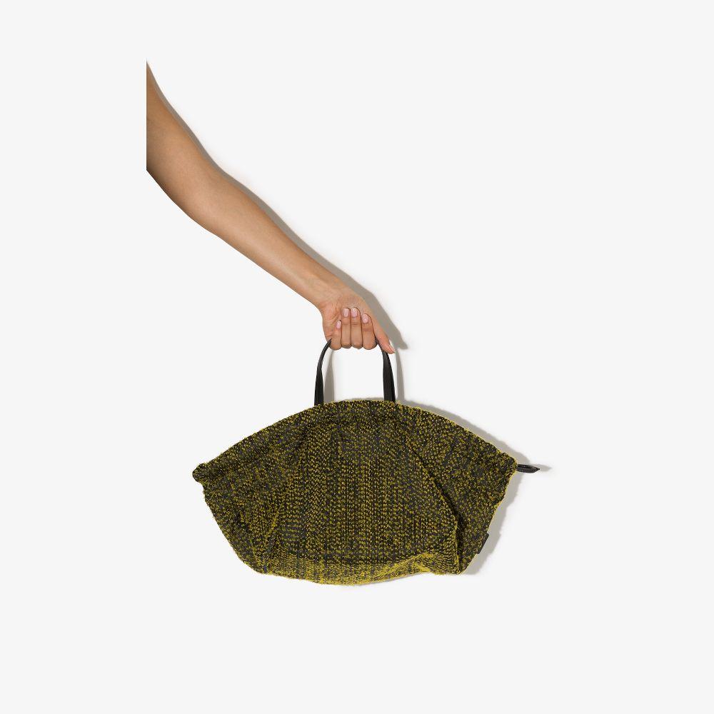 Yellow Needle Punch Kinchaku Tote Bag