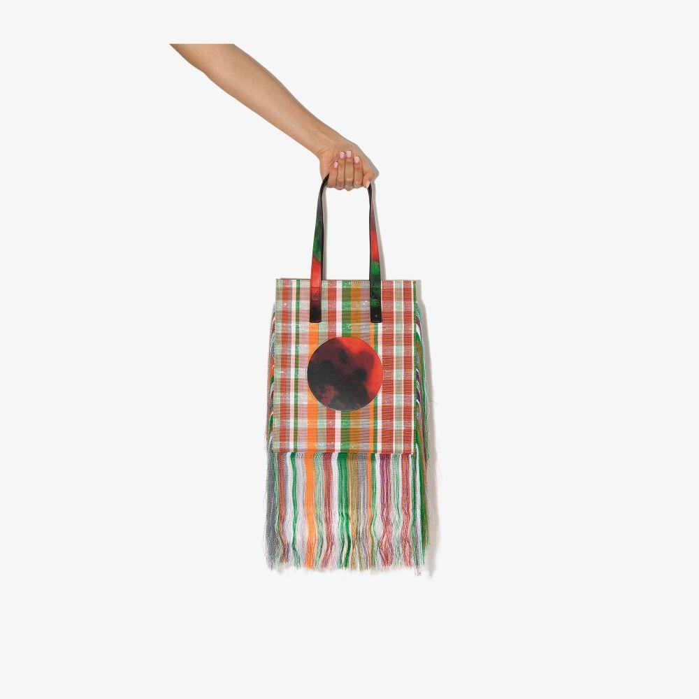 X Karl Lagerfeld Multicoloured Fringed Tote Bag