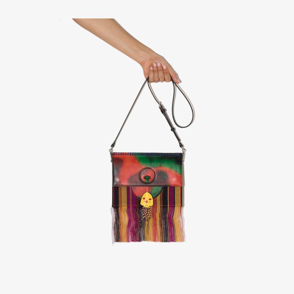 X Karl Lagerfeld Multicoloured Tasselled Shoulder Bag